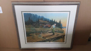 """James Lumbers """"Mischief"""" Signed and numbered framed print"""