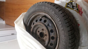 Winter tires 195/60/15 5 bolt rims good condition tires must go.