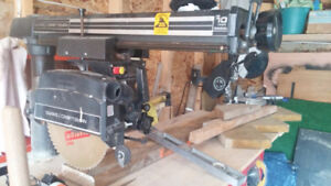 """Radial 10"""" Saw. Including stand"""