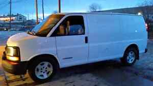 04 chev express 5.3.  this is a good work truckfor someone start