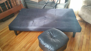 Futon and foot stool