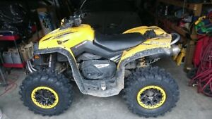 Can-Am Renegade 800HO with moose plow tones of extras