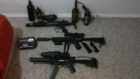 Paintball guns great shape with spare parts and complete gears