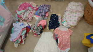Girls NB lot of clothing + extras