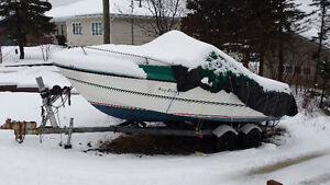 Boat  and galvanized trailer  for sale