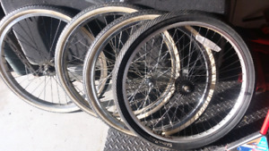Bicycle tires and rims 24in schwin