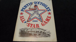 All Star Program (Baseball) from 1982 Montreal