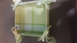 Pair of fabric napkins holders $5