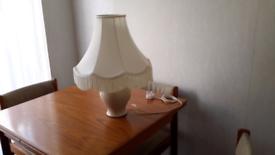 Large Retro Standard Lamp Shade with Fringe