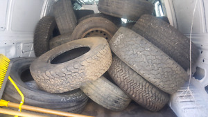 50+ SINGLE TIRES FOR SALE.. DIFFERENT SIZES