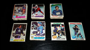 Lot de cartes de hockey - années 70's