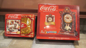 REDUCED - 2 Coca-Cola 3-D Puzzles - BRAND NEW