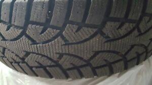 225/65 R17 winter tires on steel rims set of 4