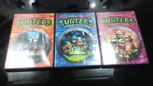 Ninja Turtles Volumes 1, 2 & 3 on DVD.