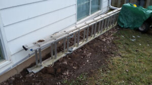SOLD   16' aluminum extension ladder, home use.