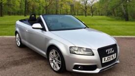 Audi A3 Cabriolet 2.0TDI 2009MY S Line SILVER CONVERTIBLE