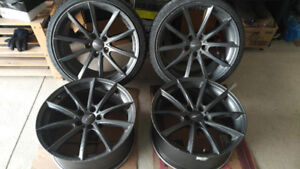 """19"""" 5x114.3 Ace Concave Convex Staggered Rims"""