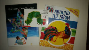 Eric Carle Hardcover Books Very Hungry Caterpillar and 2 others