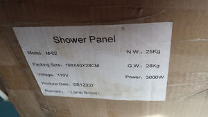 Up for sale Steam Shower and panel New in Box
