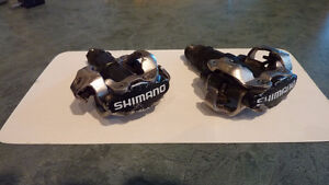 Shimano double sided clip on pedals