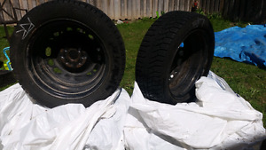 4 Winter Tires with rims Mazda 2. 185/55 R 15 ContiWinterViking2