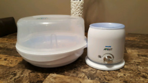 Avent microwave steam sterilizer with bottle warmer