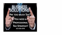 PAYING TOO MUCH TAX?!  DO U NEED a PROFESSIONAL TAX STRATEGY!