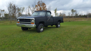 Cert,in great shape 86 dodge ram 4x4 4spd standard