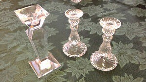 Crystal Candlestick Holders Cornwall Ontario image 1