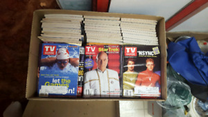 Vintage TV guides. Mostly 90's and early 2000's