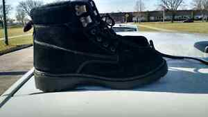 Black Suede  Size 8.5 Laced All Seasons Boots