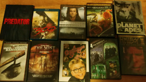 MOVIE COLLECTION DVDS AND BLU RAY 13 TOTAL