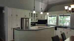 Kitchen Cabinets (wood), Island & Countertop Excellent Condition