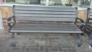 Strong Benches with Plastic Slats