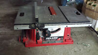 skilsaw skil table saw 15 amp 10 inch blade cabinet making wood