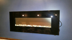 2 Eletronic heating fire places