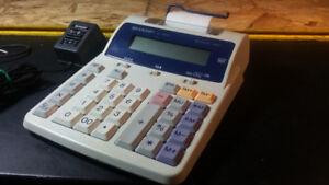 Sharp EL-1801C Semi-Desktop 2-Color Printing Calculator, Adopter