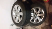 Set of factory rims and tires 16 inch off volkswagon