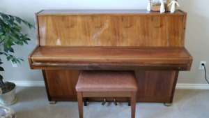Samick S-105 upright piano and bench