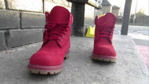 Timberland Premium Red Waterproof Boots - Like New