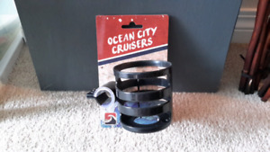 Brand New Ocean City Cruisers Cup Holder, Black