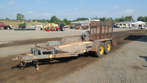 13' EQUIPMENT TRAILER-5 TONNES-TANDEM AXLE-BRAKES AND RAMPS