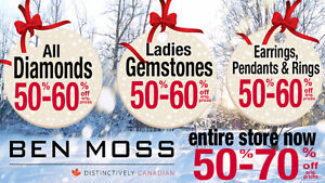 """WOW!  Ben Moss """"GOING OUT OF BUSINESS SALE"""" Now 50% to 70% OFF!"""