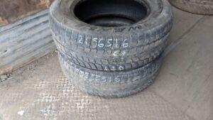 Pair of 2 Wanli SnowGrip 215/65R16 WINTER tires (65% tread life)