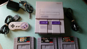 SUPER NINTENDO SYSTEM AND GAMES