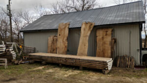 Huge live edge wood slabs! Perfect for tables! Priced to sell !!