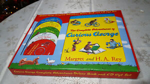 Curious George Complete Adventures Deluxe Book/CD Gift Set NEW