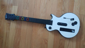Wii redoctance white gibson les paul guitar controller