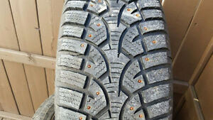 Studded tires on rims