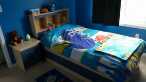 Boys Captain bed set with bedside table